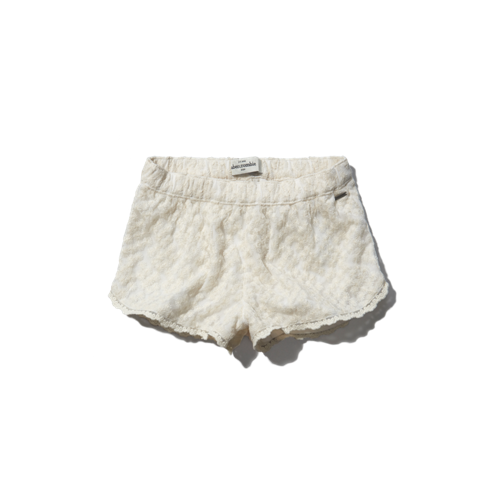 girls a&f lace soft shorts