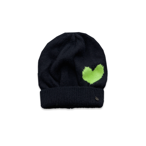girls cozy heart beanie