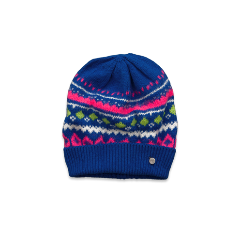 girls cozy patterned beanie