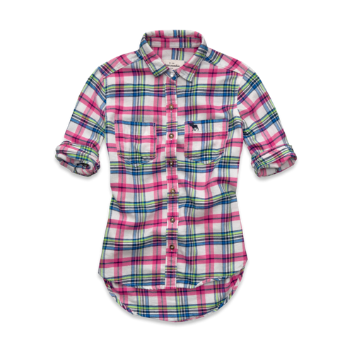 tops classic flannel shirt