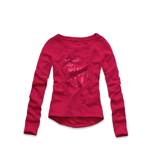 girls sparkle graphic sweatshirt