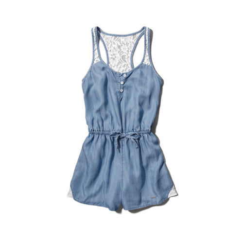 girls chambray romper