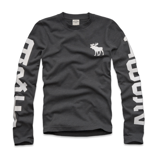 guys long sleeve graphic tee