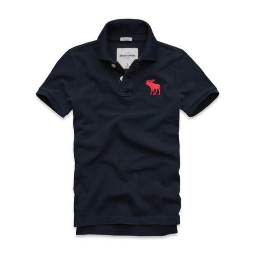 guys pop-color logo polo