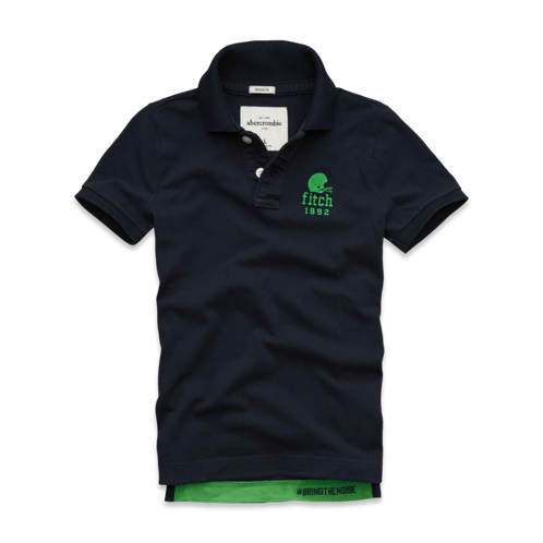 tops message graphic polo