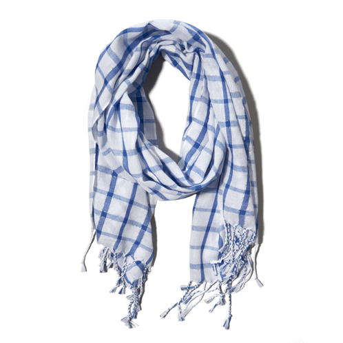girls plaid summer scarf