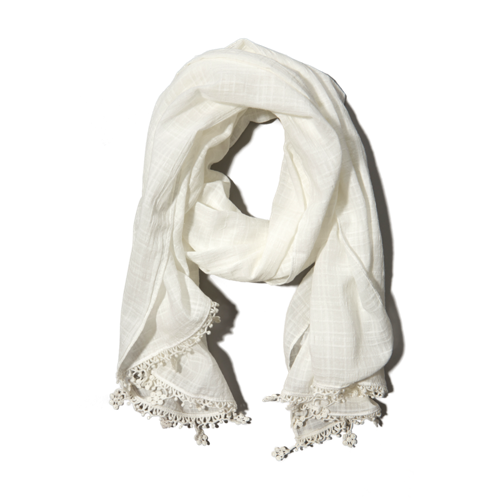 girls lace embellished scarf