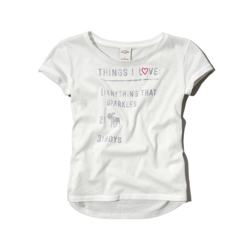 girls glitter attitude graphic tee
