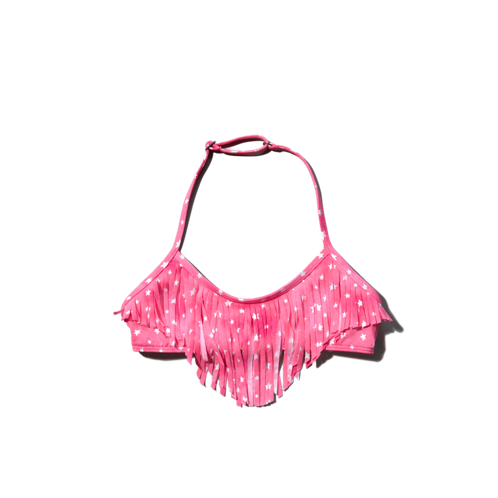 girls fringe swim top