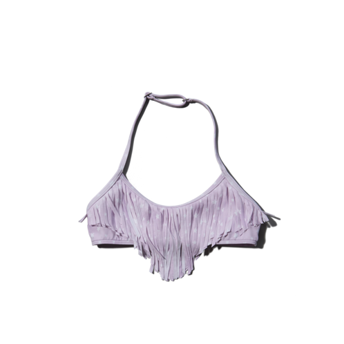 tops fringe swim top