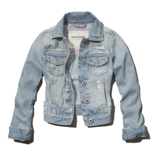 girls a&f denim jacket