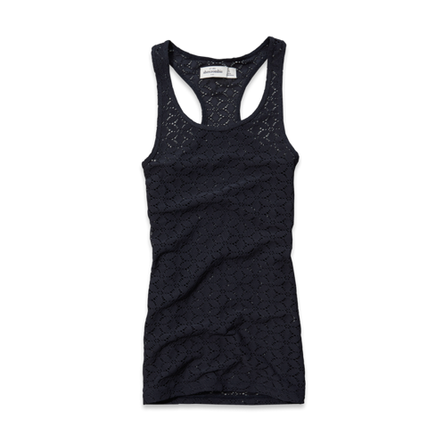 tops all-over lace boytank