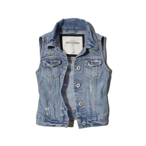 girls vintage denim vest