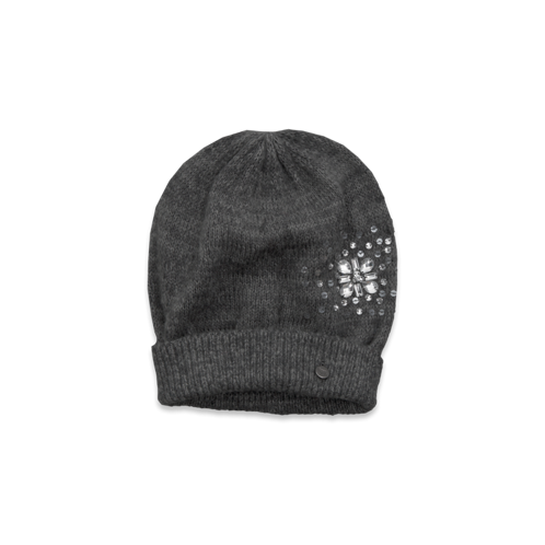girls embellished knit hat