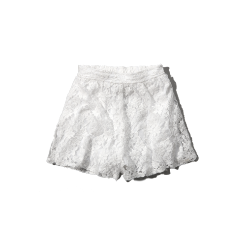 girls lace culotte shorts