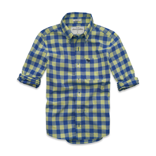 guys classic plaid shirt