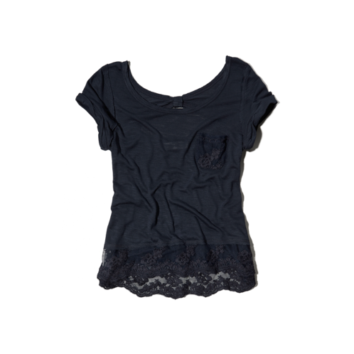 girls supersoft lace tee