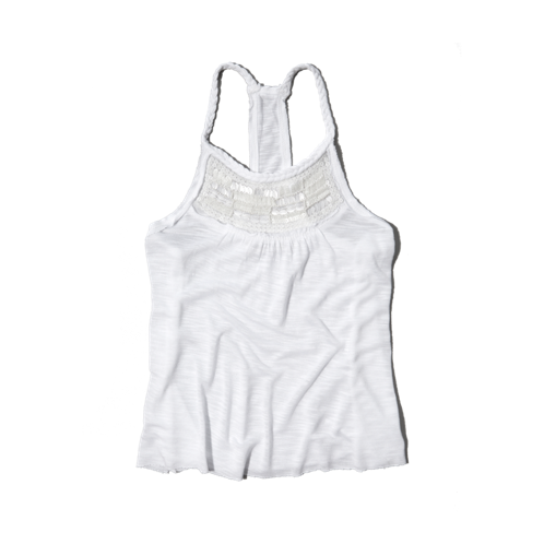 girls shine neckline cami