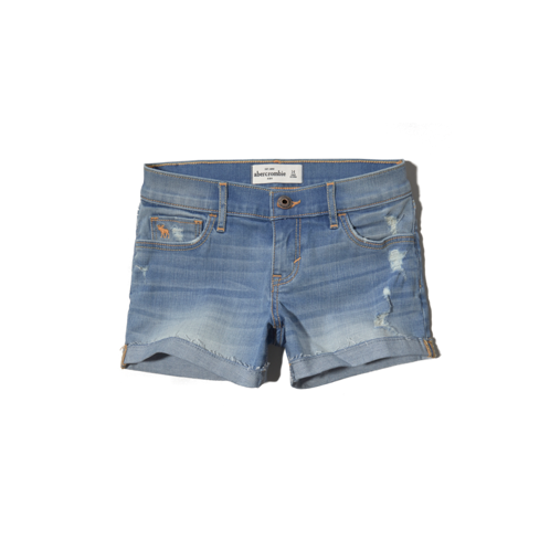 bottoms a&f low rise midi shorts