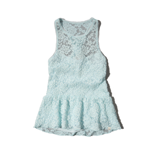 girls lace peplum tank