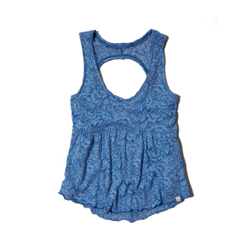 girls burnout babydoll tank