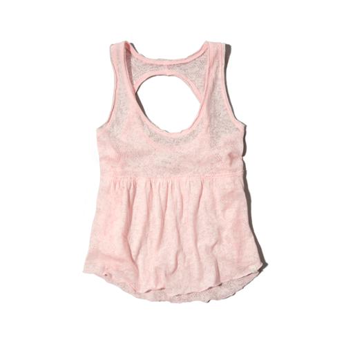 tops burnout babydoll tank