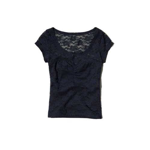 girls lace cropped top