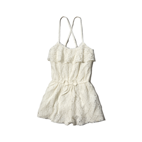 girls all-over lace romper