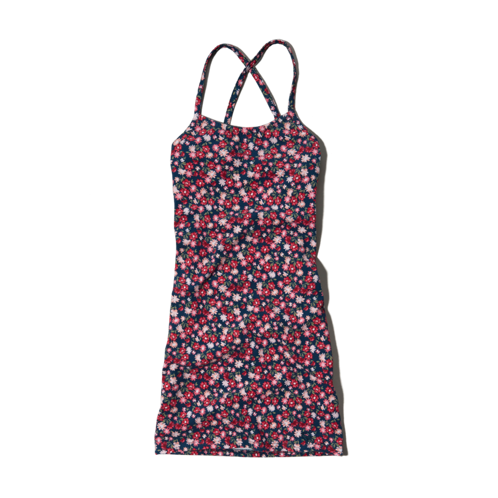 girls floral slim dress
