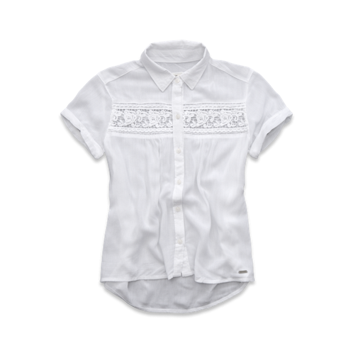 girls short sleeve lace shirt