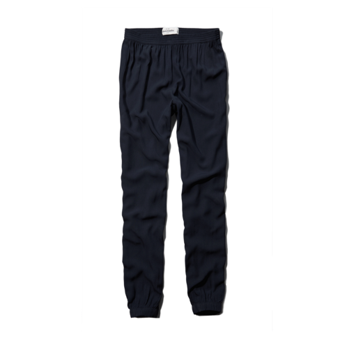 girls solid soft drapey pants
