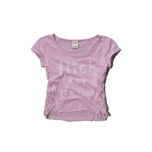 girls lacy graphic tee