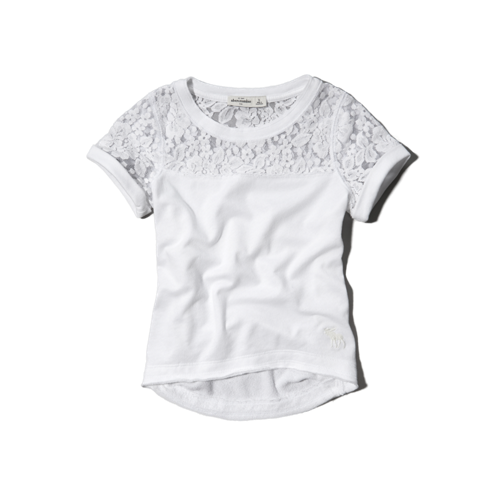 tops lacy sweatshirt tee