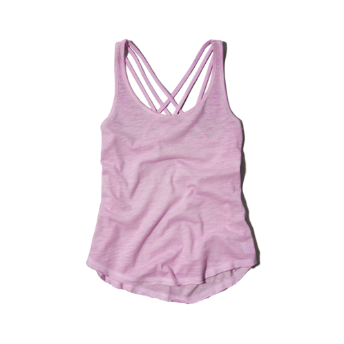 girls cross-back tank