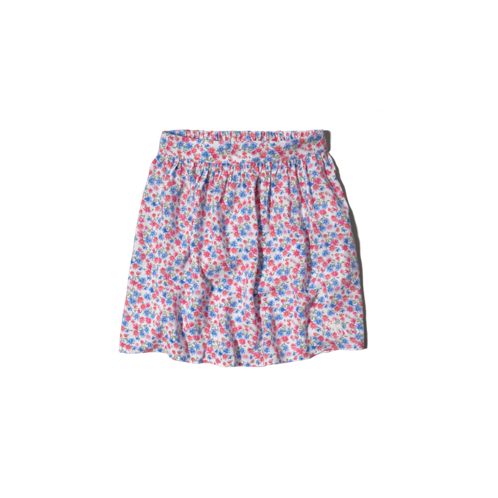 girls high rise floral print skater skirt