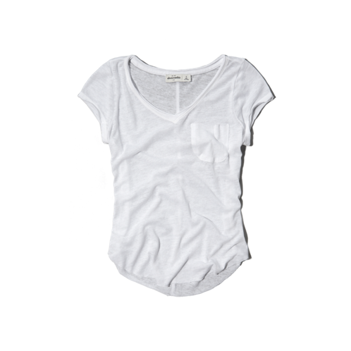 girls burnout v-neck tee