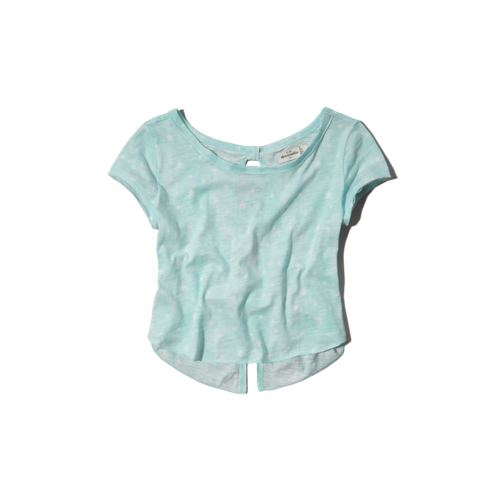 girls flyaway back cropped tee