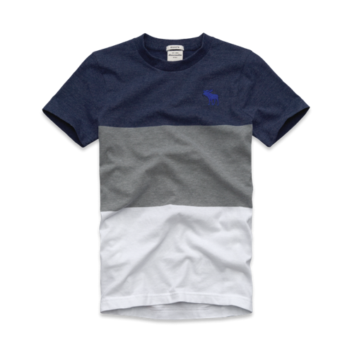 guys multi-color tee
