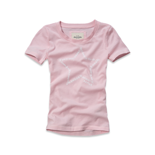 girls cute logo tee