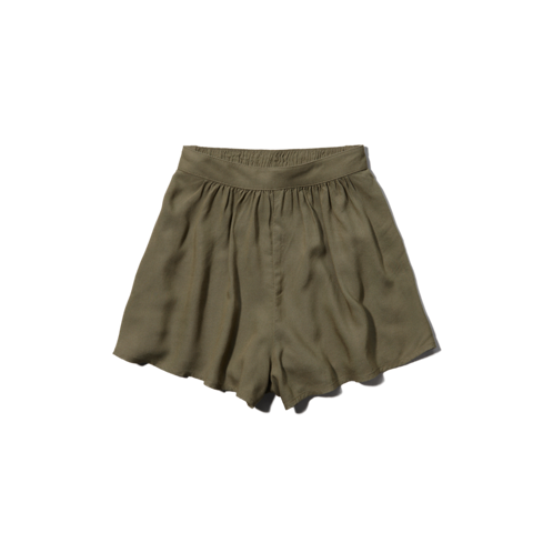 girls drapey culotte shorts