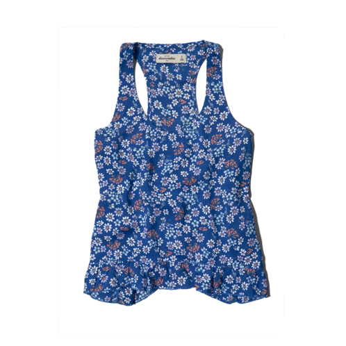girls supersoft floral tank