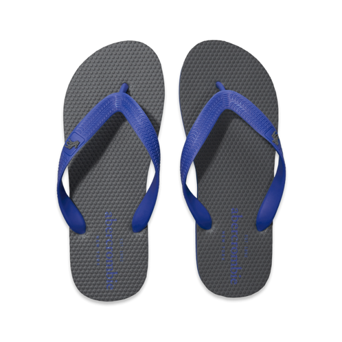 boys contrast color flip flops
