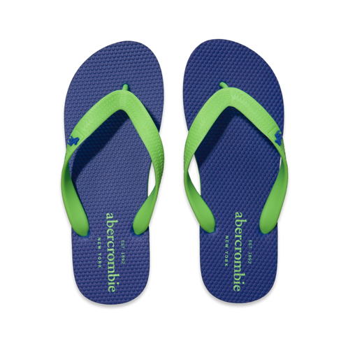 contrast color flip flops