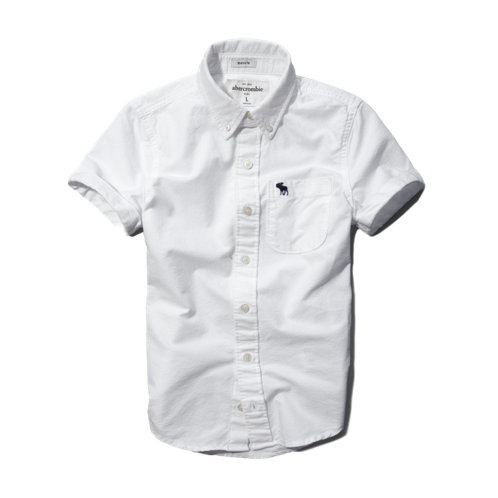 boys solid button-down shirt