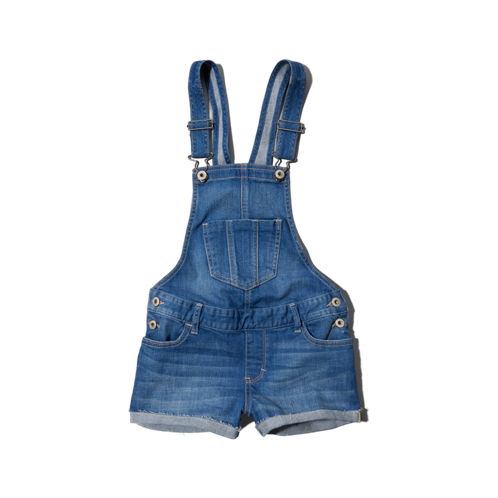 girls a&f overalls