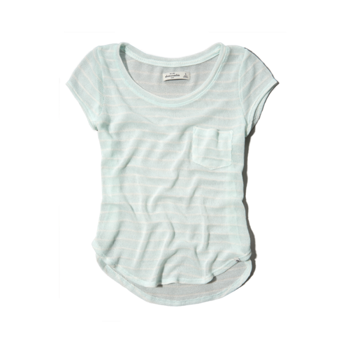 girls stripe snit tee