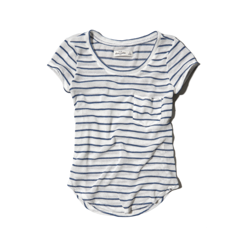 tops stripe snit tee