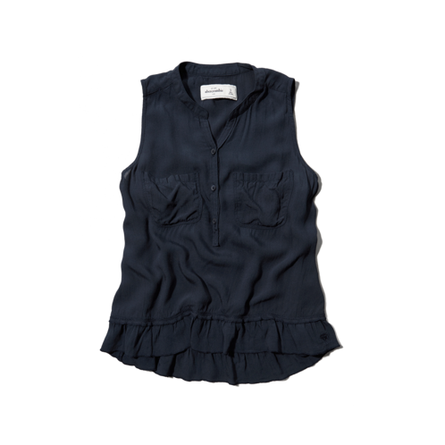 girls ruffle hem shirt