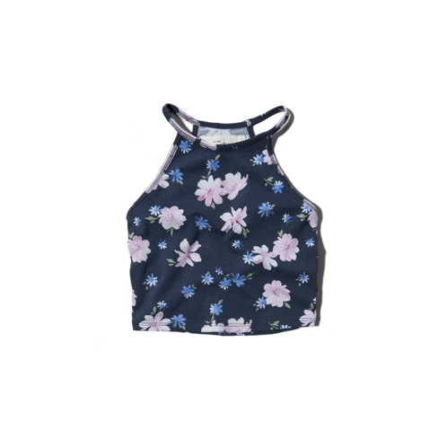 girls halter slim crop top