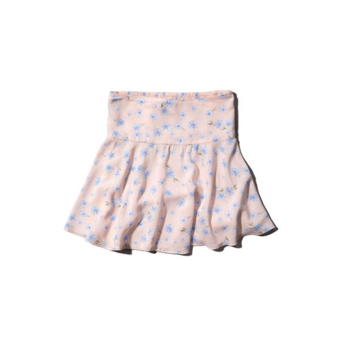 girls natural rise floral dropwaist skirt